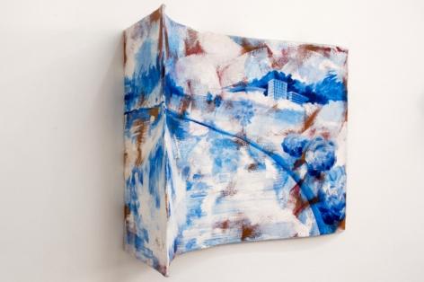 Rachael Gorchov Lake Land, 2014 Acrylic on handmade paper mache clay, styrofoam, and burlap 29 x 37 x 15 in. / 74 x 94 x 38.1 cm.