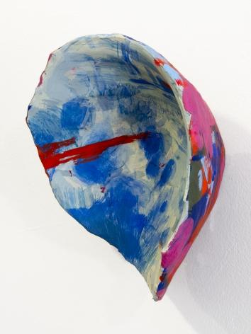 Rachael Gorchov Ruins, Joshua Tree, 2015 Acrylic on paper mache clay, burlap and plaster