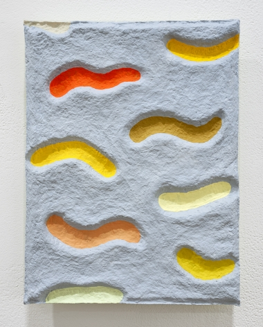Chiaozza 9 Warm Waves on a Flowing Breeze, 2019 Paper pulp and acrylic paint
