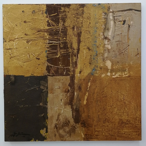Somluk Pantiboon Clay Courage, 2017 clay pigment on canvas