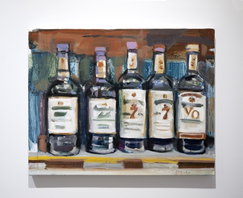 Walter Robinson liquor bottles painting