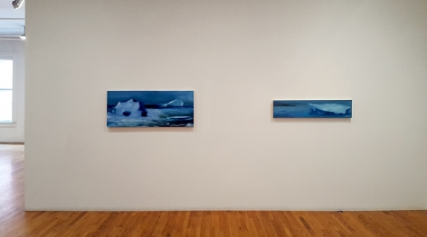 karen marston 2 small iceberg paintings