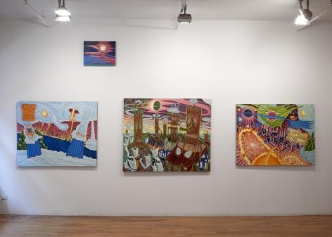 david sandlin paintings on wall