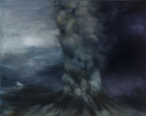 karen marston Eruption, 2015 Oil on linen 48 x 60 cm. / 121.9 x 152.4 cm.