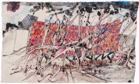 HORST JANSSEN, Landscape #20, 29-1-1995