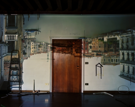 Abelardo Morell, Camera Obscura: Image of the Grand Canal Looking West Toward the Accademia Bridge in Palazzo Room Under Construction, Venice, 2007