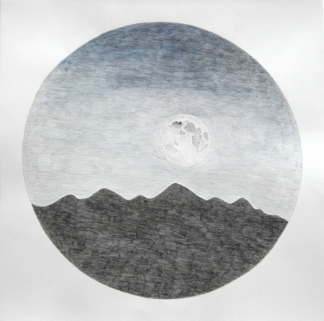 Russell Crotty, Full Moon Near Williams, 2011