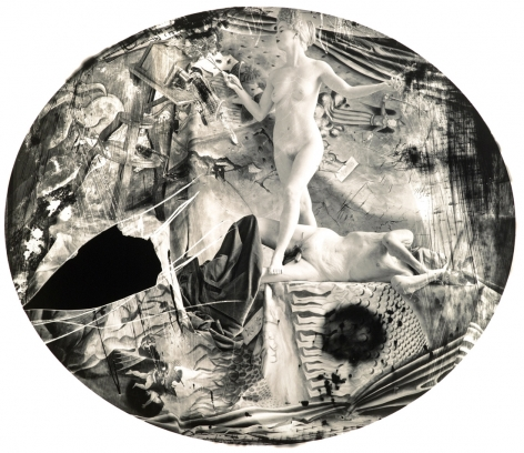 Joel-Peter Witkin, Eve knighting Daguerre, 2003