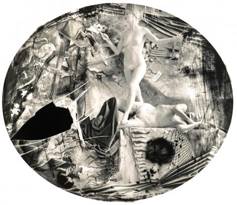 Joel-Peter Witkin, Eve knighting Daguerre, 2003