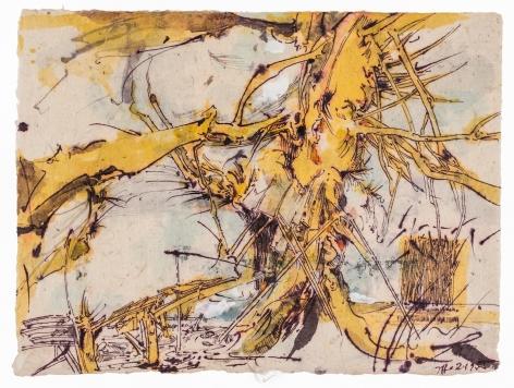 HORST JANSSEN, Yellow Tree, 2-1-1995