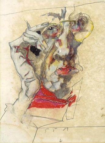 Horst Janssen, Self-portrait, 05/05/1989