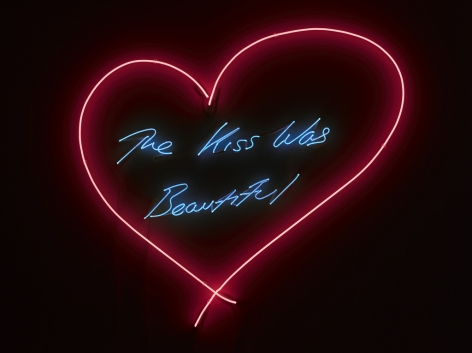 """Tracey Emin_The Kiss Was Beautiful, 2013 (Red Heart) (45 9/16"""" x 49 11/16"""") Wall 2 - Casterline