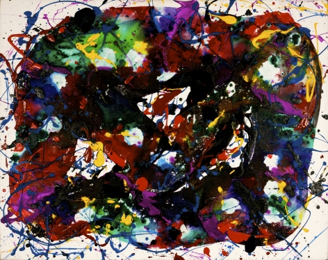 "Sam Francis_Untitled (SFP-85-71), 1985 (25"" x 31.5"") Framed - Casterline|Goodman Gallery"