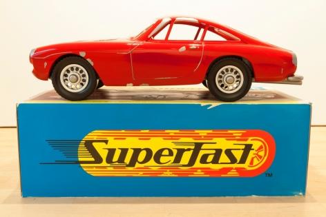 "Vik Muniz_Mnemonic Vehicle #1 (Ferrari Berlinetta), 2014 (30"" x 23 5:8"" x 48"") On Box from Side -Casterline|Goodman Gallery.jpg"