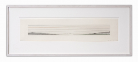 "Ed Ruscha_ KISS, 1979 (7 3:8"" x 34"") Wall - Casterline