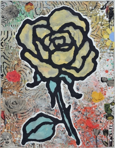 Donald Baechler-Yellow Rose-2009_Goodman|Casterline