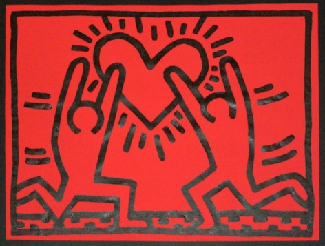 "Keith Haring_Untitled, 1983 (16"" x 20.5"") - Casterline