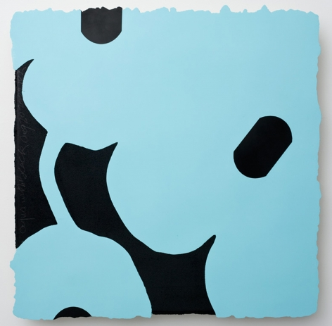 "Donald Sultan_Acqua with Black, 2009 (48"" x 48"") - Casterline