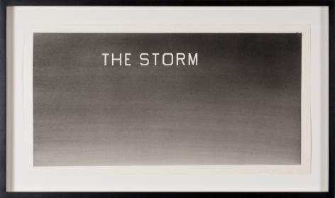 "Ed Ruscha_The Storm, 1984 (13"" x 23"") Framed - Casterline|Goodman Gallery"