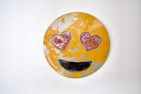 Nick Moss-Heart Eyes, 2019 (12 inch diameter)_Casterline|Goodman Gallery