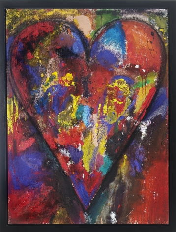 "Jim Dine_Racing Heart, 2012 (48"" x 36"") Framed - Casterline