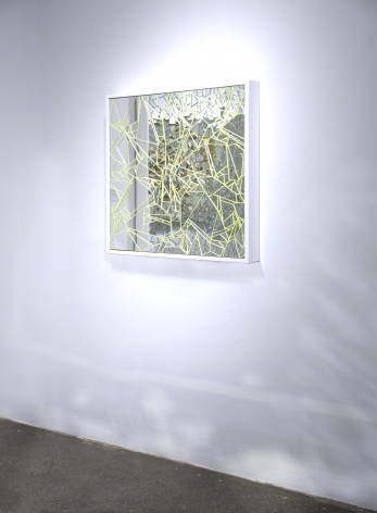 Carlos Rolon DZINE_Only You_2015_Mirror crystalline and silicon on aluminum panel_Wall_30x30 inches_Casterline Goodman Gallery.jpg