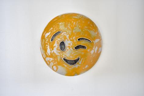 Nick Moss-Wink Wink, 2019 (12 inch diameter)_Casterline|Goodman Gallery