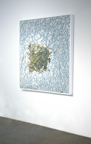 Carlos Rolon DZINE_Untitled (Blue Royalty_2015_Wall angled_Mirror crystalline and silicon on aluminum panel_60x60 inches_Casterline Goodman Gallery.jpg