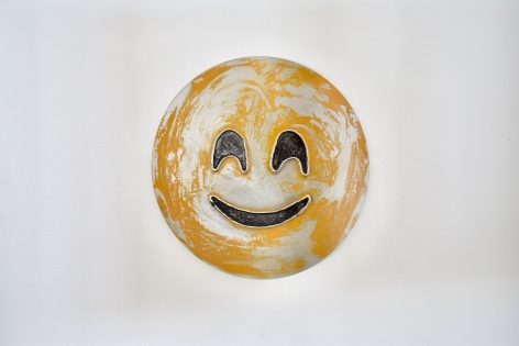 Nick Moss-Smiling face and smiling eyes, 2019 (12 inch diameter)_Casterline|Goodman Gallery