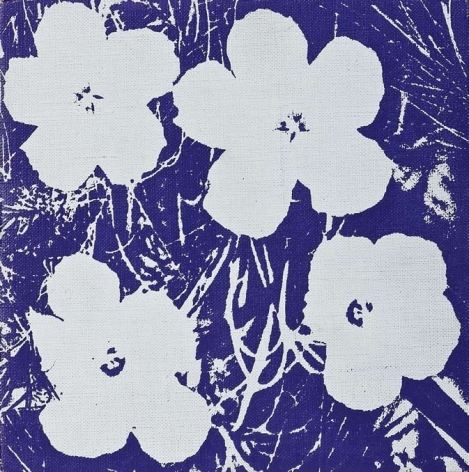 Flowers, 1964, Synthetic polymer and silkscreen ink on canvas