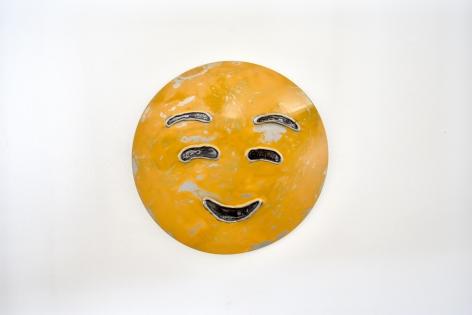 Nick Moss-Smiling face, 2019 (12 inch diameter)_Casterline|Goodman Gallery