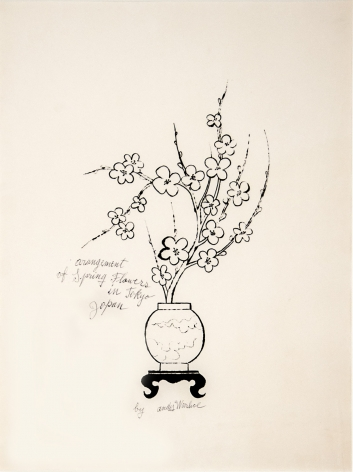 "Andy Warhol_Arrangement of Spring Flowers in Tokyo, Japan, 1956 (19"" x 14"") - Casterline
