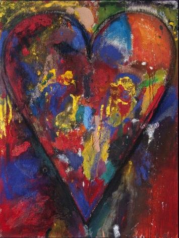 "Jim Dine_Racing Heart, 2012 (48"" x 36"") Framed - Casterline|Goodman Gallery"