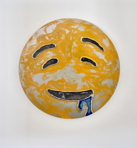 Nick Moss-Drooling face, 2019 (12 inch diameter)_Casterline|Goodman Gallery