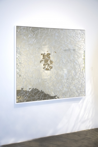 Carlos Rolon DZINE_Untitled (Double Rainbow)_2015_Mirror crystalline and silicon on aluminum panel_Wall Angle_60x60 inches_Casterline Goodman Gallery.jpg