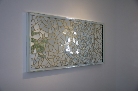 Carlos Rolon DZINE_All Gold Everything (With Violet Love letters) 1976_2015_Side View_Mirror crystalline and silicon on aluminum panel_40x80 inches_Casterline Goodman Gallery.jpg
