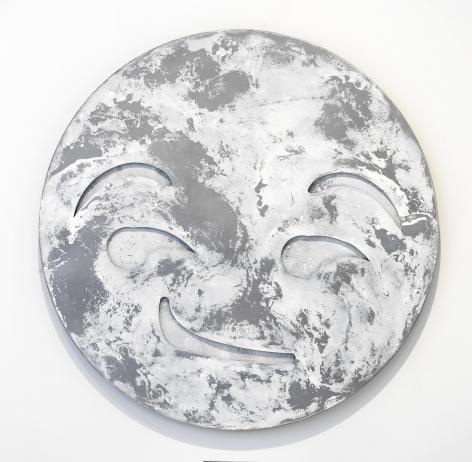 Nick Moss-SMIRK (PALE), 2016 (46 inch diameter)_2_Casterline|Goodman Gallery