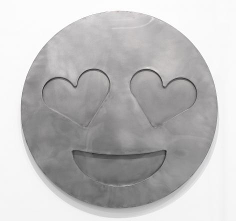 Nick Moss-HEART (LARGE), 2016 (46 inch diameter)_Casterline|Goodman Gallery