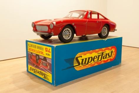 "Vik Muniz_Mnemonic Vehicle #1 (Ferrari Berlinetta), 2014 (30"" x 23 5:8"" x 48"") On Box from Front -Casterline|Goodman Gallery.jpg"