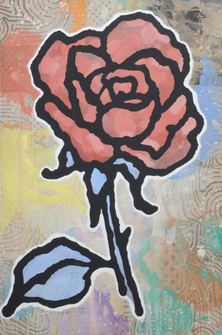 "Donald Baechler_Red+Blue Rose, 2011 (72"" x 48"") - Casterline