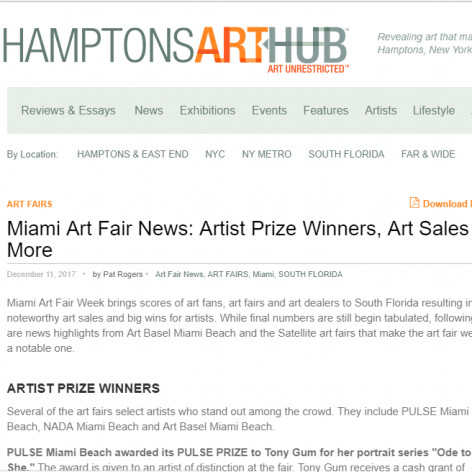 Hamptons Art Hub: Artist Prize Winners, Art Sales & More
