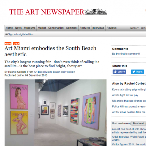The Art Newspaper: Art Miami embodies the South Beach aesthetic