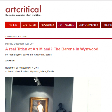 Artcritical: A real Titian at Art Miami? The Barons in Wynwood