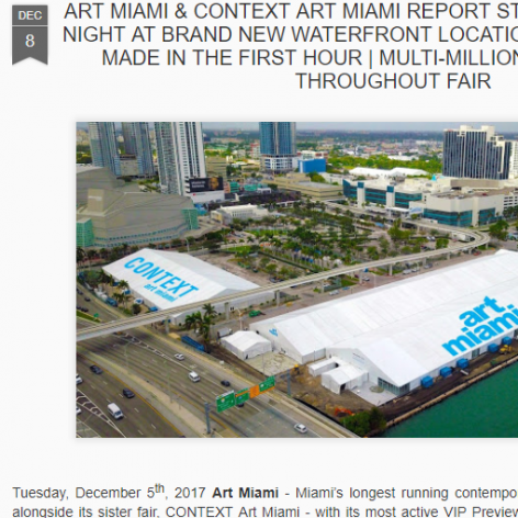 Art Daily News International: ART MIAMI & CONTEXT ART MIAMI REPORT STRONGEST OPENING NIGHT AT BRAND NEW WATERFRONT LOCATION