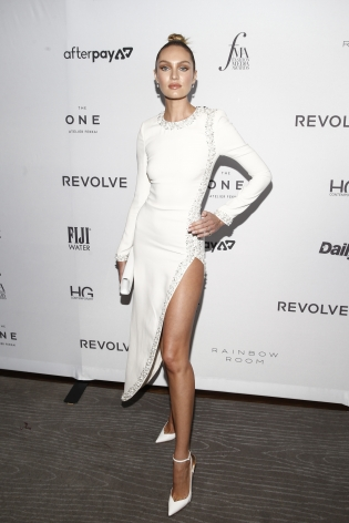 Candice Swanepoel at the Fashion media Awards x Hg Contemporary