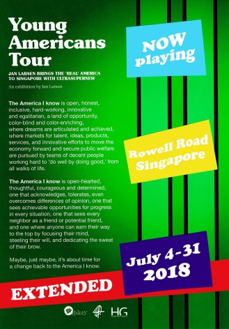 Exhibition Poster for Young Americans Tour at Hoerle-Guggenheim Gallery in Napa Valley