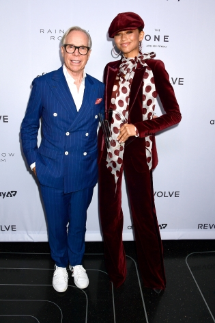 Tommy Hilfiger and Zendaya at Hg Contemporary x Fashion Media Awards