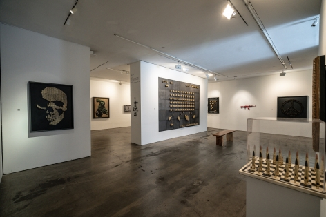 Exhibition View of One Less Gun by McCrow at Hg Contemporary art gallery in Chelsea, Founded by Philippe Hoerle-Guggenheim
