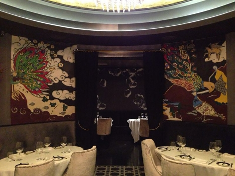 Domingo Zapata Painting Installed in a restaurant by Philippe Hoerle-Guggenheim Gallery