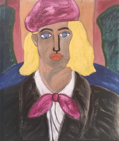 Femme Blonde by Naj Amani at Hoerle-Guggenheim Gallery